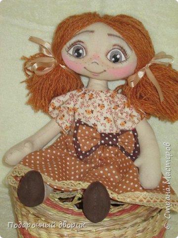 Игровая ,текстильная куколка.Ростом 38 см.  фото 3