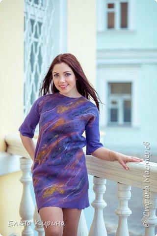 """Валяное платье """"Фиалковый бунт"""" фото 1"""