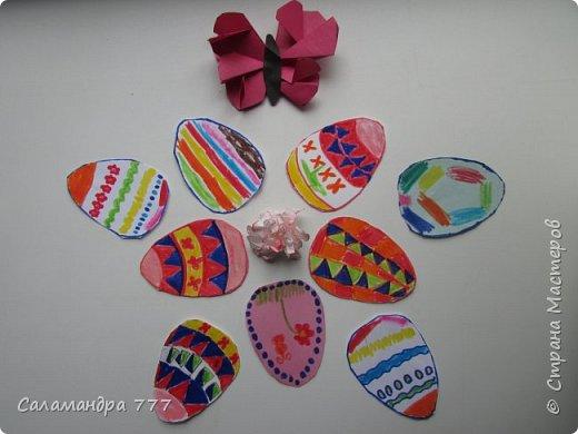 Очень понравилось Сонюше украшать рисунками пасхальные яички! Много сделала!..  фото 1