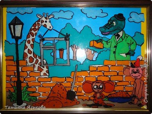 """Всем привет! Пришло время работы с пластилином. Эта работа называется """" Гена крокодил и его друзья"""" фото 1"""