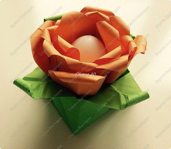 Мне очень понравился МК аllasol о том, как сделать тюльпаны оригами: http://stranamasterov.ru/node/1014736?c=favorite Пион получается из двух тюльпанов. Размер бумаги для тюльпанов: 20*20 см  и 19.5*19,5 см. фото 1