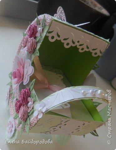 Добрый день! Последние мои работы были посвящены дням рождения. Вот подарок коллеге на день варенья: коробочка для подарка и конверт для денег. фото 8