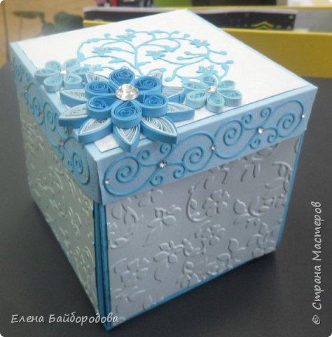 Добрый день! Последние мои работы были посвящены дням рождения. Вот подарок коллеге на день варенья: коробочка для подарка и конверт для денег. фото 3