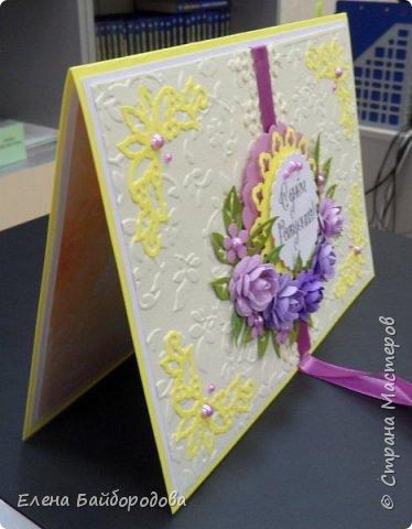 Добрый день! Последние мои работы были посвящены дням рождения. Вот подарок коллеге на день варенья: коробочка для подарка и конверт для денег. фото 11