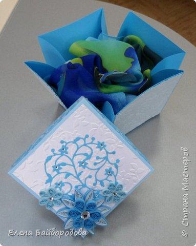 Добрый день! Последние мои работы были посвящены дням рождения. Вот подарок коллеге на день варенья: коробочка для подарка и конверт для денег. фото 4