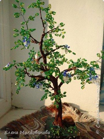 Лёгкое бисерное дерево фото 2