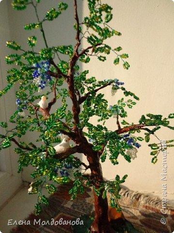 Лёгкое бисерное дерево фото 3
