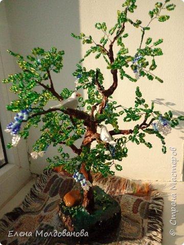 Лёгкое бисерное дерево фото 4