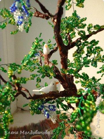 Лёгкое бисерное дерево фото 6