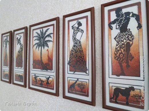 """Всем доброго дня! Наконец я осуществила свою давнишнюю мечту - вышила мои любимые """"Африканские истории"""" фото 8"""