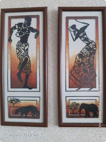 """Всем доброго дня! Наконец я осуществила свою давнишнюю мечту - вышила мои любимые """"Африканские истории"""" фото 6"""