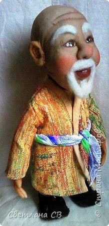 """Вот такой дедушка из Средней Азии появился в моей коллекции. Назвала Азизом, так как это имя обозначает """"дорогой,почитаемый,драгоценный"""". Рост 26 см  фото 8"""