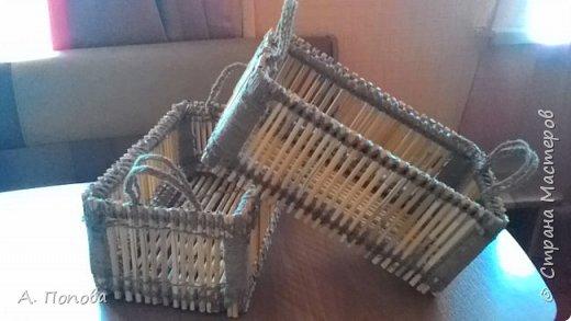 Ящички-коробочки из камыша.  Шпагат льняной, клей пва, лак. фото 3