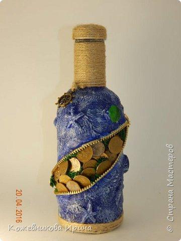 "Бутылка ""Сокровища моря"".. фото 1"
