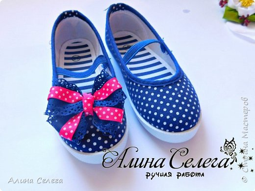 МК Маленькие бантики на липучке для обуви/ МК Алина Селега фото 2