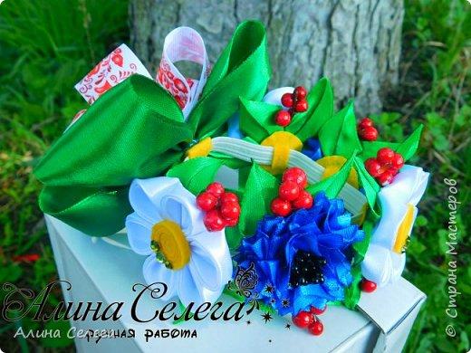 МК Резинка на гульку канзаши / МК Алина Селега  фото 4