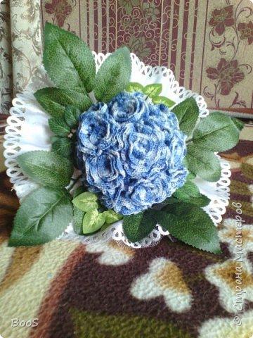 """мой свадебный букет))) настоящие цветы засохли, а выбрасывать жалко..вот и пришлось """"реанимировать""""))) фото 1"""