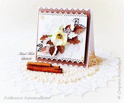 """Желаю всем """"Уютного чаепития""""! Вот такой подарочный набор, который состоит из Чайного домика и открыточки был сделан для одной очень хорошей девушки) Домик сделан с """"нуля"""" из плотного картона) фото 3"""