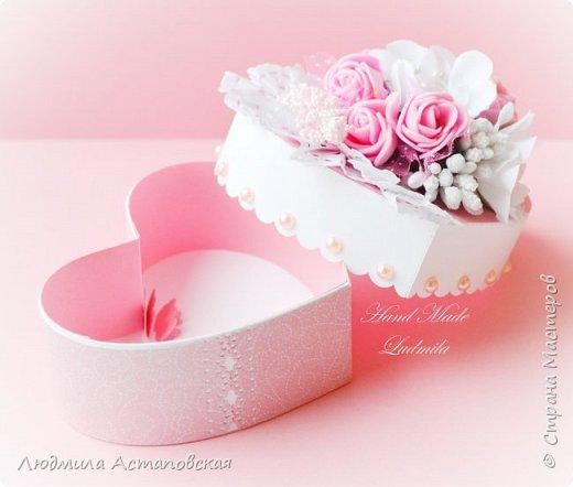 "Шкатулка-сердце ""Розовые сны"" фото 2"