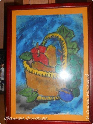 букет для мамы  и корзина с фруктами фото 2