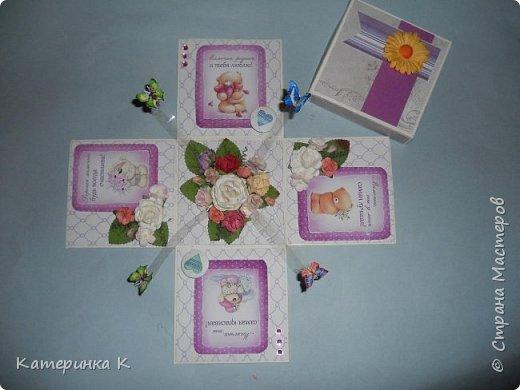 Коробка-открытка для Мамы фото 2