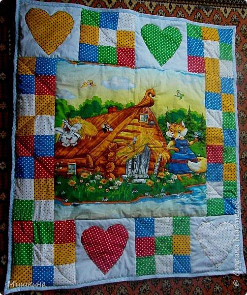 Рада всех видеть! Представляю второе детское одеяло детского размера 1*1,2. фото 1