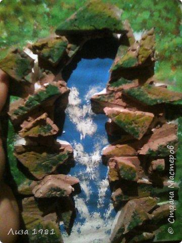 Водопад на листе