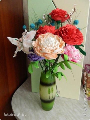 К юбилею д/с  попросили оформить напольную вазу. фото 1
