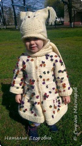 Здравствуйте жители Страны Мастеров!  Для своей внученьки связала пальто  фото 4