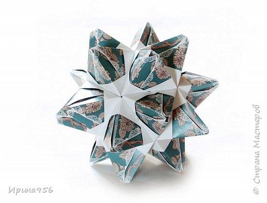 Signum Схема http://www.kusudama.me/origami/Signum#Signum-60-200 60 модулей 5 х 5 см. Размер около 11 см. фото 18