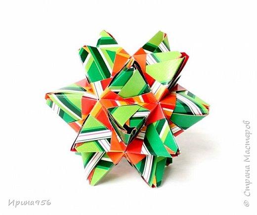 Signum Схема http://www.kusudama.me/origami/Signum#Signum-60-200 60 модулей 5 х 5 см. Размер около 11 см. фото 19