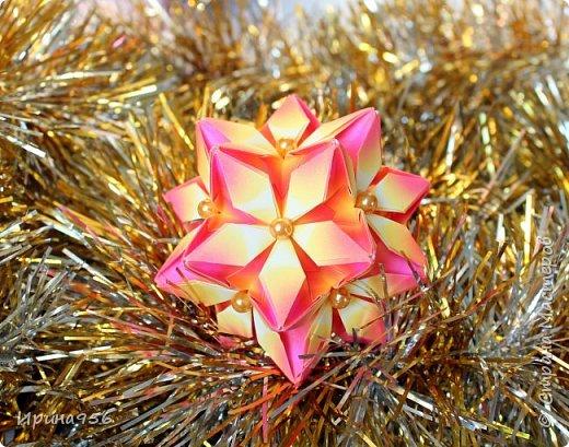 Signum Схема http://www.kusudama.me/origami/Signum#Signum-60-200 60 модулей 5 х 5 см. Размер около 11 см. фото 6