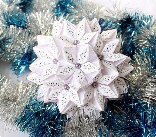 Signum Схема http://www.kusudama.me/origami/Signum#Signum-60-200 60 модулей 5 х 5 см. Размер около 11 см. фото 13