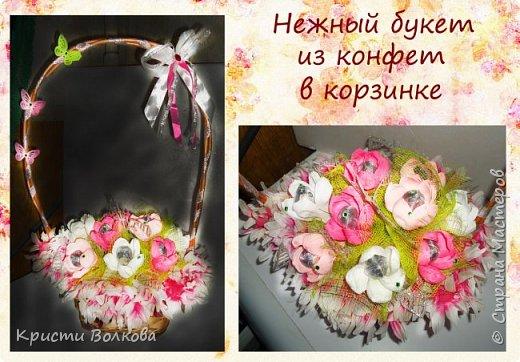 Конфетные корзинки и букеты фото 1