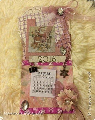 Календарики в подарок учителям, творили вместе с дочкой) фото 5