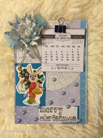 Календарики в подарок учителям, творили вместе с дочкой) фото 9