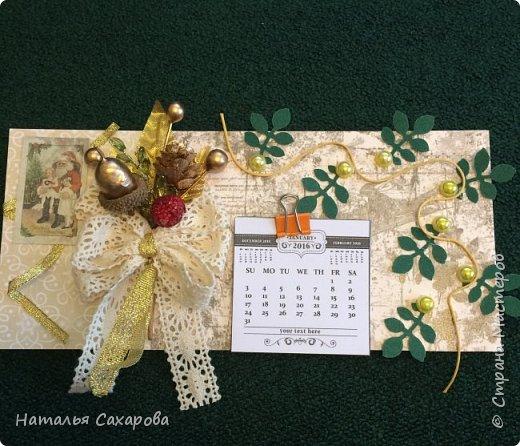 Календарики в подарок учителям, творили вместе с дочкой) фото 11