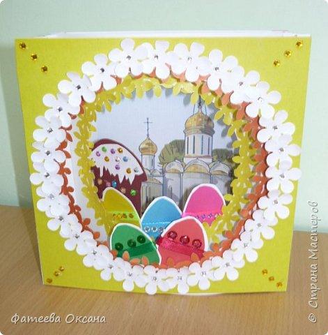 Приближается удивительный светлый праздник - Пасха. Ребята создали пасхальные бумажные туннели, ориентируясь на образец, но с учетом своих цветовых предпочтений. Вот что у нас получилось.  фото 5
