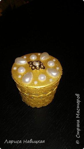 Шкатулка из баночки от крема фото 1