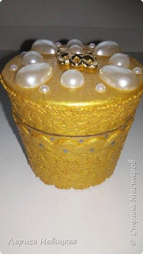 Шкатулка из баночки от крема фото 2