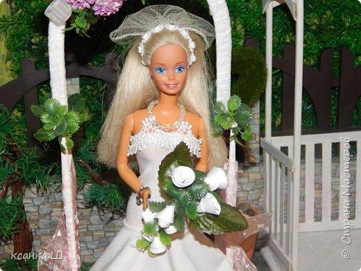 Доброго времени суток, жители Страны Мастеров! Вот сделала давно свадебную беседку с аркой и букетом невесты. Создавала просто вотнемогунужнопрямсрочно. Присоединяйтесь к просмотру, если интересно. фото 6