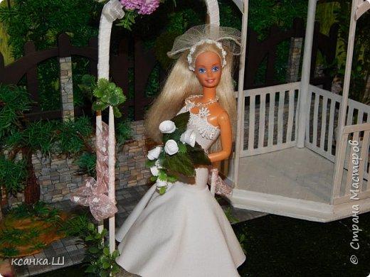 Доброго времени суток, жители Страны Мастеров! Вот сделала давно свадебную беседку с аркой и букетом невесты. Создавала просто вотнемогунужнопрямсрочно. Присоединяйтесь к просмотру, если интересно. фото 7