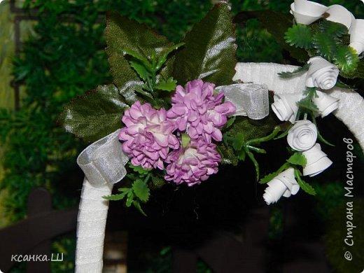 Доброго времени суток, жители Страны Мастеров! Вот сделала давно свадебную беседку с аркой и букетом невесты. Создавала просто вотнемогунужнопрямсрочно. Присоединяйтесь к просмотру, если интересно. фото 5