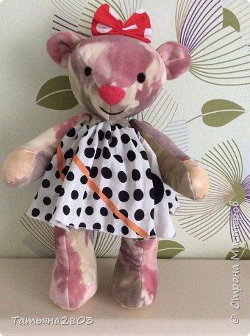 Медведица Соня. Сшита из мягкой ткани.  фото 1