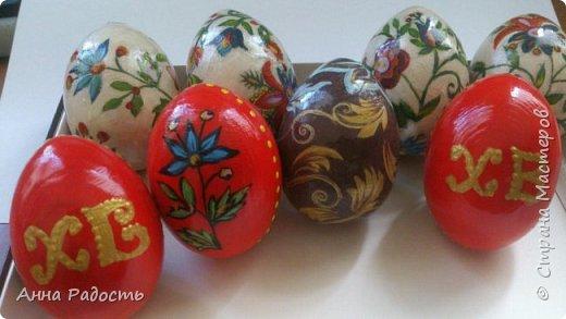 Декупаж деревянных яиц на подставочках. фото 2