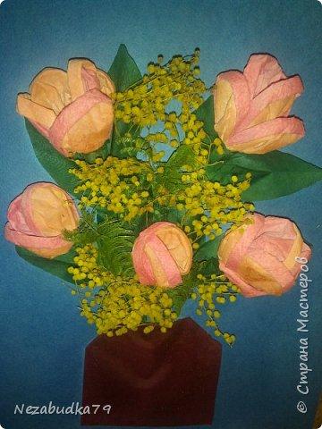 Тюльпаны и мимоза(повторюшка)