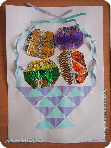 пасхальная корзинка с яйцами фото 6