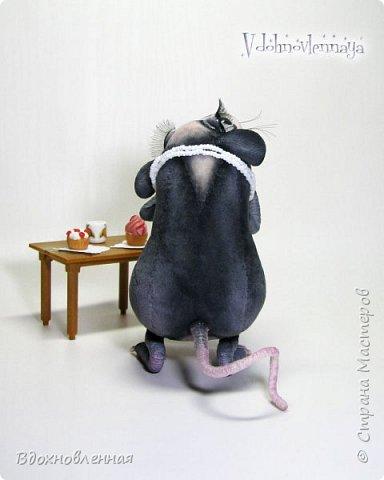 Пришла весна.. Аннушка открыла шкаф с вещами, достала свое любимое платье.. Аннушку ждало разочарование... Так многие из нас встретили весну:-)  Крыса Аннушка  - единственная и неповторимая, очень интересный, многогранный персонаж!  Наверняка, многие могут узнать в этой ситуации себя, когда весной пытались примерить  на себя летние вещи и понимали, что размер любимого платья уже не подходит))  Аннушка пошита по новой авторской выкройке из материала с мелким ворсом - миништофф. Ручки, ножки и хвост имеют проволочный каркас. Платье сшито из хлопковой ткани, украшено атласной лентой. Платье очень красиво блестит, благодаря блесткам! Веки и нос выполнены из натуральной кожи. фото 4