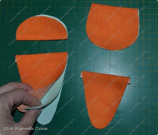 Здравствуйте. Недавно у меня появился набор из двух ножниц для рукоделия в виде цапель.  Давно хотелось иметь такую красоту. Конечно и обычные ножницы режут не хуже, а то и лучше. Но, согласитесь,  красивыми вещами и работать приятно, глянул на них и вдохновился на новую работу. А вот продавалась такая красота без чехла, простая одноразовая упаковка. И мне захотелось для красивых ножниц придумать чехол и красивый, и удобный, и вмещающий две пары. Так и родилась идея чехла для ножниц в виде морковки. фото 10