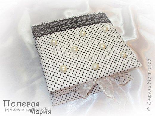 Текстильная шкатулка и органайзер-магнит) фото 2